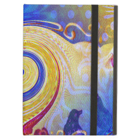 Funky Abstract Lollipop Swirl Pattern Roses Birds iPad Covers