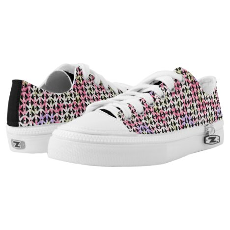 Funky abstract modern colorful weave Low-Top sneakers