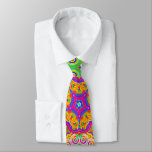 """Funky Abstract Neck Tie<br><div class=""""desc"""">Funky cool and colorful abstract kaleidoscope design.</div>"""