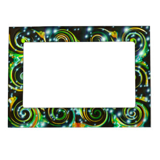 Funky Abstract Pattern Spirals Magnetic Frame