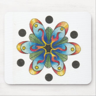 Funky Abstract Spotted Design Mouse Pad