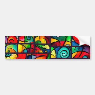 Funky Abstract Swirly Art Bumper Stickers