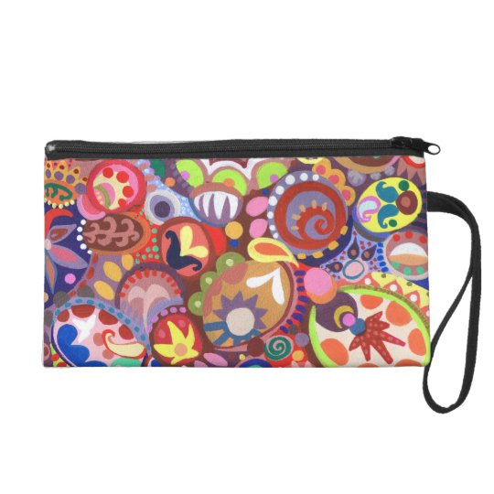 Funky Abstract Wristlet