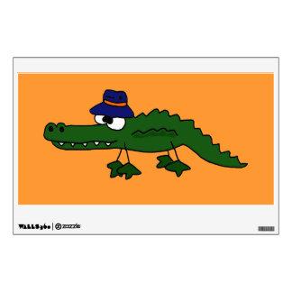 Funky Alligator in Fishing Hat Wall Sticker