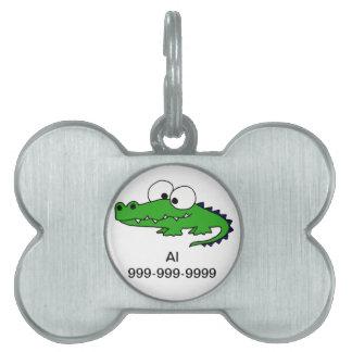 Funky Alligator Pet ID Tag