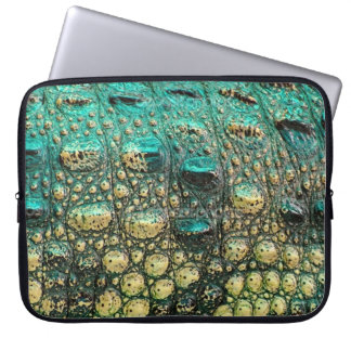 Funky Alligator Skin Print Laptop Sleeve