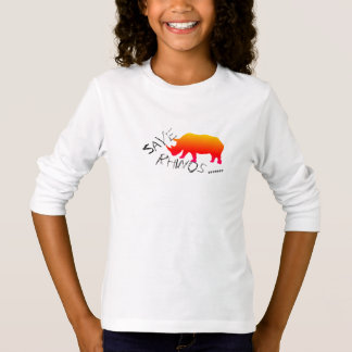 Funky and Stylish Save Rhinos Long Sleeve Top