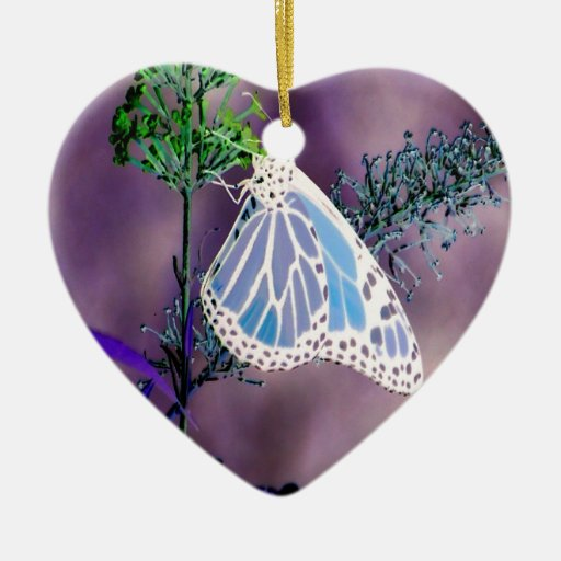 Funky and Wild Butterfly Ceramic Ornament