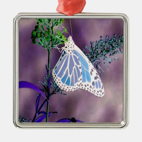 Funky and Wild Butterfly Metal Ornament