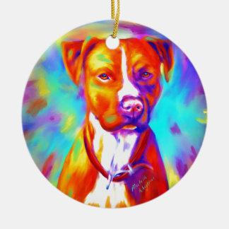 Funky Angel - Pitbull Christmas Ornament