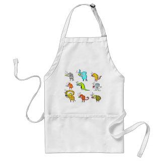 Funky Animal Friends Tea Party apron