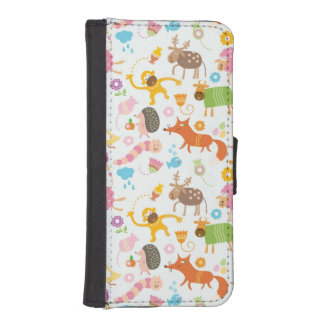 Funky Animals iPhone SE/5/5s Wallet Case