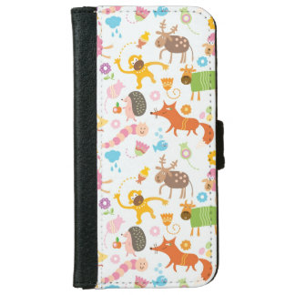 Funky Animals Wallet Phone Case For iPhone 6/6s