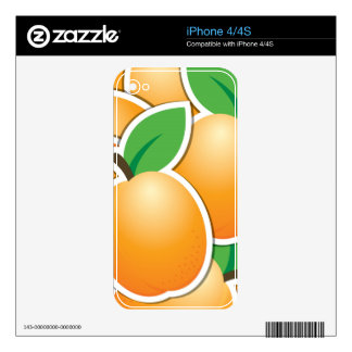 Funky apricot decals for iPhone 4S
