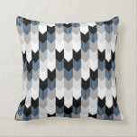 "Funky Arrow Chevron Stripes Black Grey Blue White Throw Pillow<br><div class=""desc"">Funky Modern Chevron Arrow Stripes Pattern in Grey Black White and Blue</div>"
