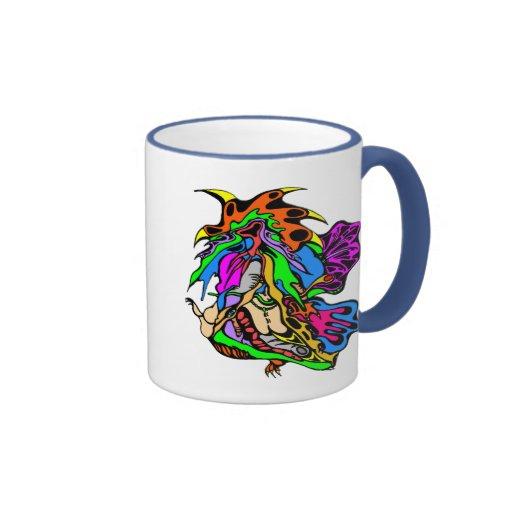 Funky Art Blast Ringer Coffee Mug