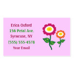 Funky Art Flower Business Cards Standard Business Cards