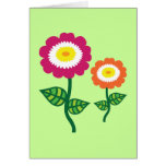 Funky Art Flowers Card