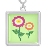 Funky Art Flowers Pendants