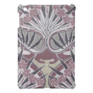 funky art nouveau dark floral design iPad mini cover