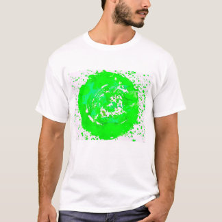 Funky Art Print Lime Green t-shirt