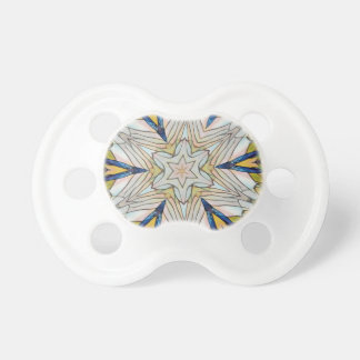 Funky Artistic Star in Daisy Shaped Abstract Pacifier