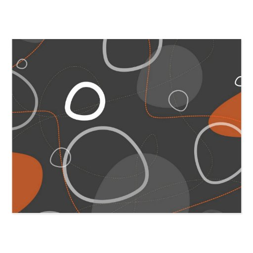 Funky Atomic Abstracts Postcard