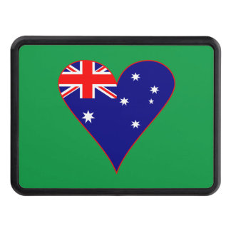 Funky Australian Heart Flag Trailer Hitch Cover