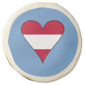 Funky Austrian Heart Flag Sugar Cookie