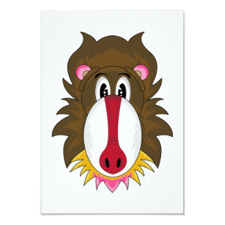 Funky Baboon RSVP Card