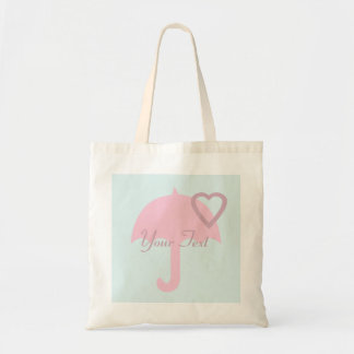 Funky Baby Blue Pink Umbrella Tote