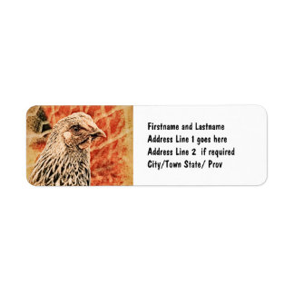 Funky Baby Chicken Silver Laced Wyandotte Pullet Label