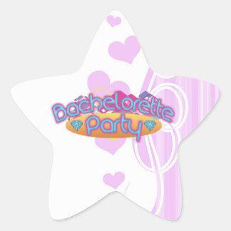 funky bachelorette wedding bridal shower party star sticker