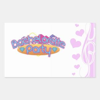 funky bachelorette wedding bridal shower party rectangular sticker