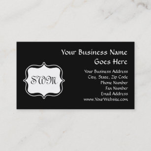 Backside business cards templates zazzle funky backside zebra blackwhite monogram business card colourmoves