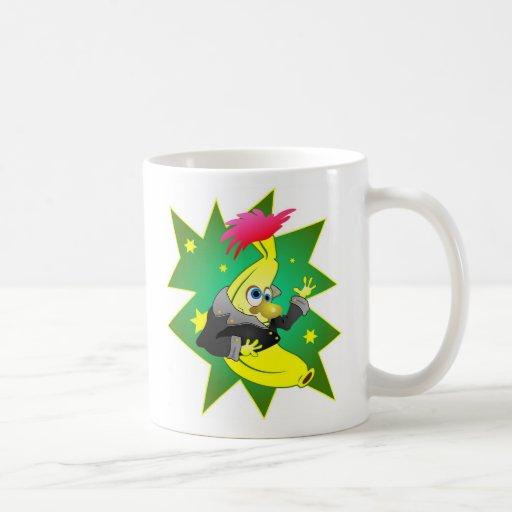 Funky banana coffee mugs zazzle - Funky espresso cups ...