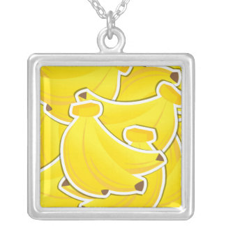 Funky banana silver plated necklace