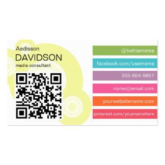Funky Bar QR CODE Social Media Business Card