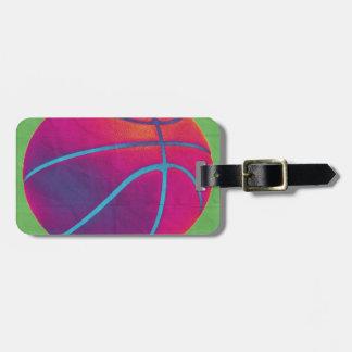 Funky basketball bag tag