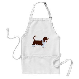 Funky Basset Hound Pop Art Dog Adult Apron