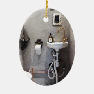 Funky Bathroom Ceramic Ornament
