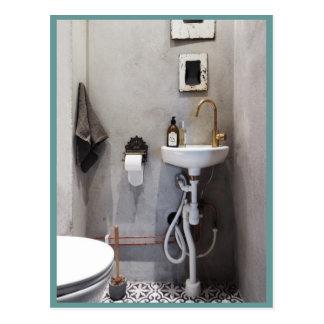 Funky Bathroom Postcard