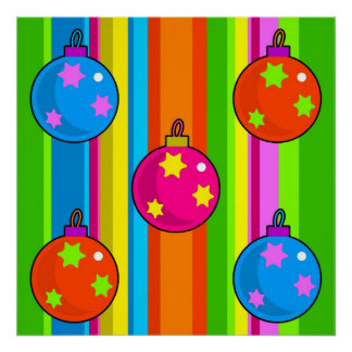 Funky Baubles Poster