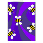 Funky Bees Greeting Cards