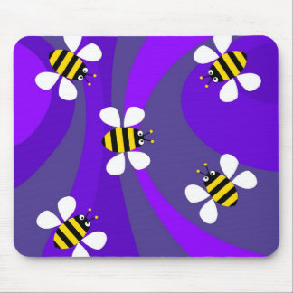 Funky Bees Mouse Pad