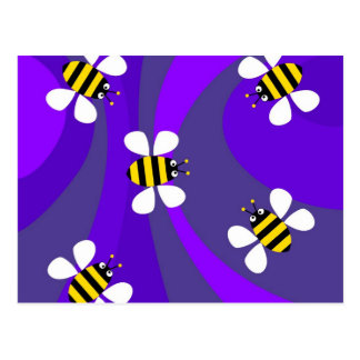 Funky Bees Postcard