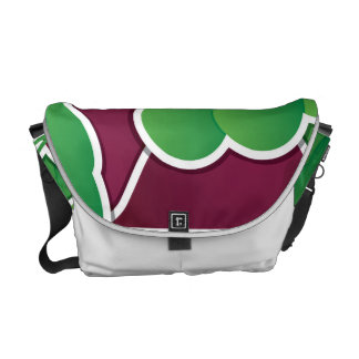 Funky beet messenger bag