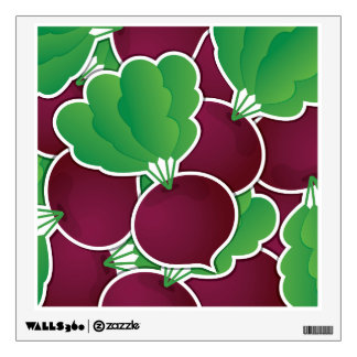 Funky beet wall sticker