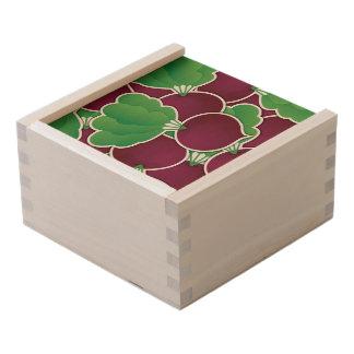 Funky beet wooden keepsake box