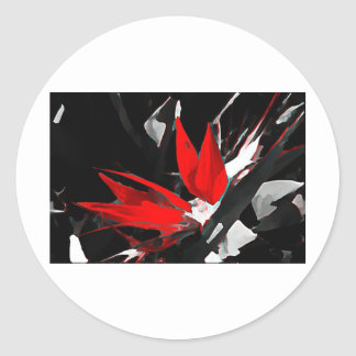 Funky Bird of Paradise Picture Classic Round Sticker